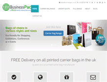 Tablet Preview of businesspac.co.uk
